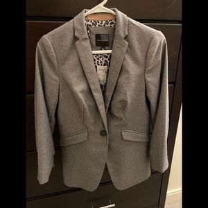 Limited Gray Blazer, Never Worn, Leopard Lining